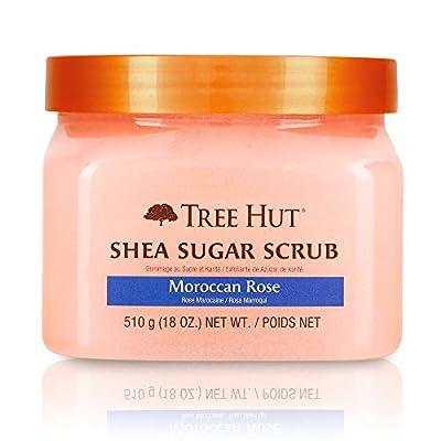 Tree Hut Shea Sugar Scrub Moroccan Rose, 18oz, Ultra Hydrating and Exfoliating Scrub for Nourishing Essential Body Care (Pack of 3)