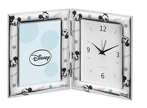 Valenti Argenti Fotolijst van zilver met wekker, Disney Mickey Mouse