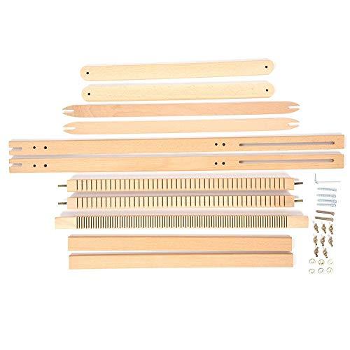 HEEPDD Webmaschine, Verstellbarer Webrahmen mit Ständer Extra große Massivholzdecke Schal Strickwebstuhl DIY-Nähmaschine (27,56 x 19,69 x 1,18 Zoll)