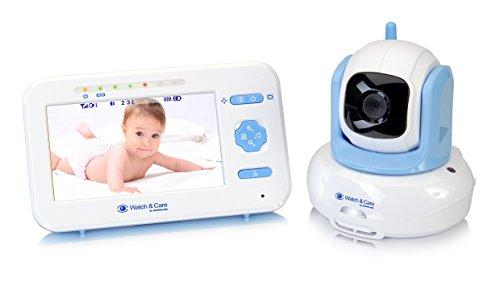 Audioline Watch & Care V300 - Videobabyphone mit automatisch schwenkbarer Kamera