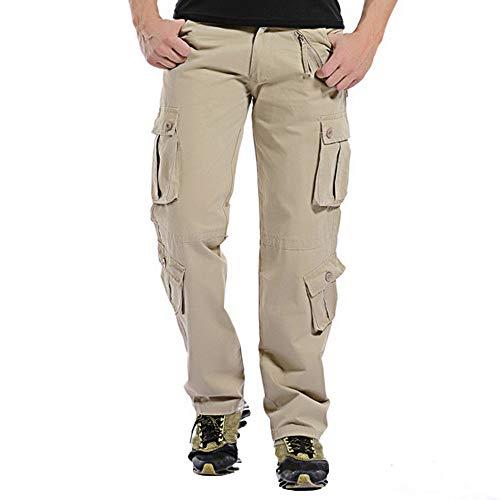 Aoogo Herren Slim Fit Cargohose Jogger Designer Hose Freizeithose Kampfhose Arbeitshose Mehrere Tasche Outdoor Tactical Hose Baumwolle Cargo Hose Trousers mit Vielen Taschen für Jagd Wandern