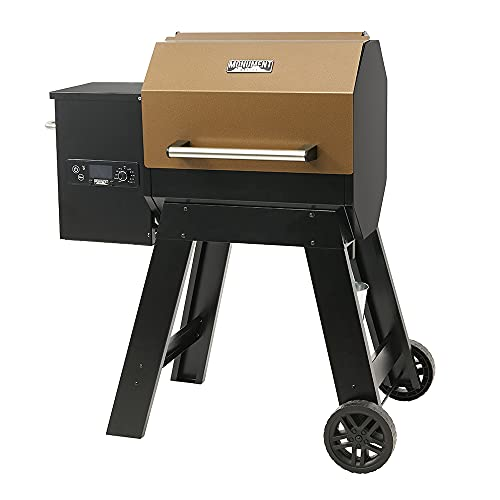 Monument Grills Octagonal Column Wood Pellet Grill Outdoor Smoker ,Sturdy ,Heat Insulation,530 Sq-In Cooking Area