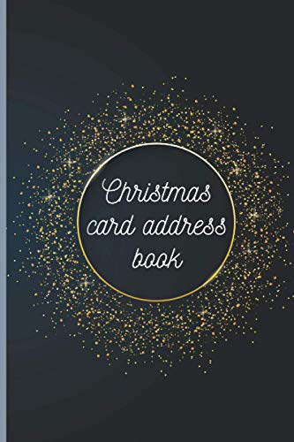 Christmas Card Address Book: Merry Christmas Card Address Book List For Holiday Cards You Send and Receive Pocket Size Record Book (6