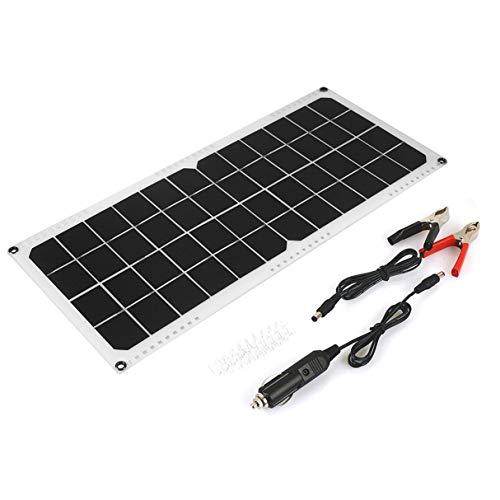 Morninganswer 12V 20W Coche Yate Barco Panel Solar Cargador de batería Trickle Fuente de alimentación Cargador para Acampar al Aire Libre Ultra Delgado de Alta eficiencia