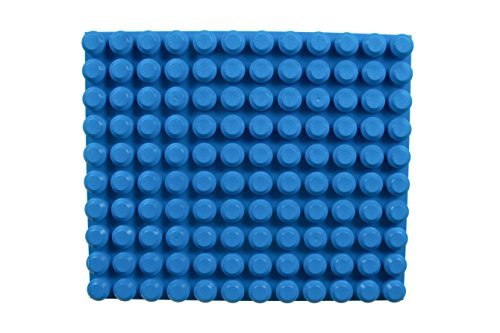 Strictly Briks Beginner Briks Baseplate 12.5' x 15' 100% Compatible with Mega Bloks First Builder Blocks | 10X12 Large Pegs for Toddlers | Single Tight Fit Stackable Base Plate | Blue