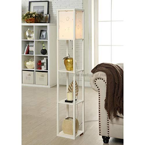 JUNYYANG Lámparas de pie, llevada Creativa Moderna Simple Chino Sala de Estar Lámpara de Piso, lámpara de cabecera del Dormitorio de la lámpara Sofá-El Cuidado de los Ojos de luz Vertical