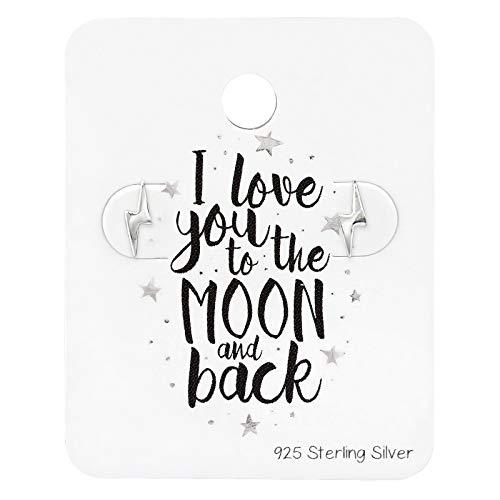 De Rose & Silver Company Vrouwen 925 Sterling Zilver Kleine Bliksem Bout Stud Oorbellen RS0927