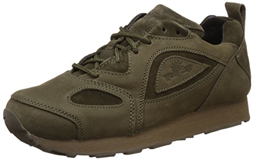 Woodland Men's Olive Green Leather Sneakers - 8 UK/India (42 EU)-(G 777WS)