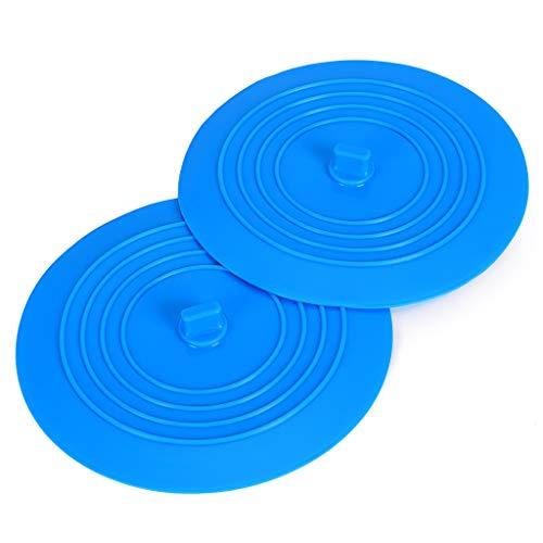 BTSKY Universal-Abflussstöpsel aus Silikongummi, 15,2cm, für Küche, Badezimmer, Spüle, Waschbecken, Badewanne, Ablassstopfen für Reisen, 2 Stück