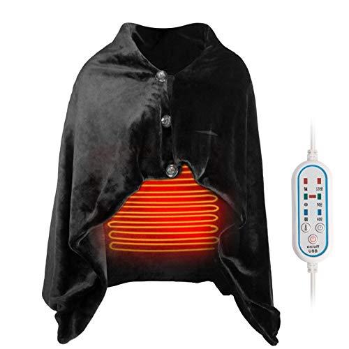 Manta térmica eléctrica 2 en 1, mantón Calefactor USB, Chal Envolvente Poncho...