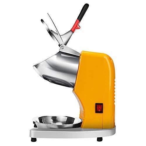 XinMeiMaoYi Trituradora de hielo, máquina de hielo de doble cuchillo, 95 kg/hora, máquina de afeitar de hielo para cócteles, helado, batidos, jugo frío