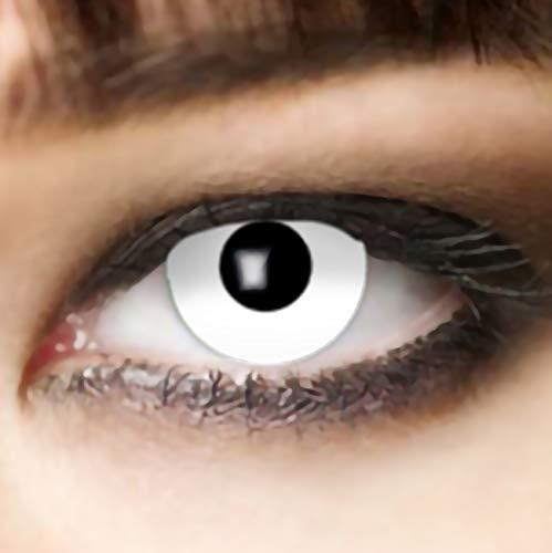 farbige Kontaktlinse weiß 1 WOCHE Zombie oder Vampir Halloween Linsen Halloween Make up Zombie Schminke von Leo Eyes