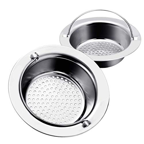 haodex 2 Pieces Sink Strainer - Stainless Steel - 4.5' Diameter - Fit for Almost All US Kitchen Sinks