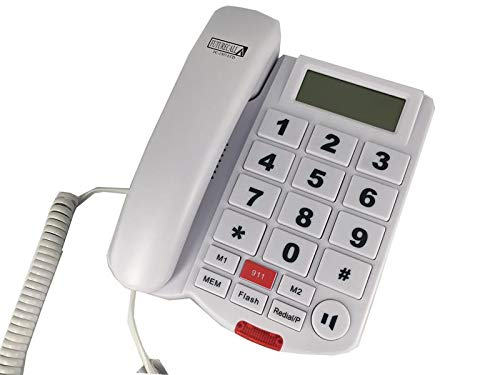 Caller ID Phone with Big Numbers, 2-Way Speakerphone, Hearing Aid Compatible