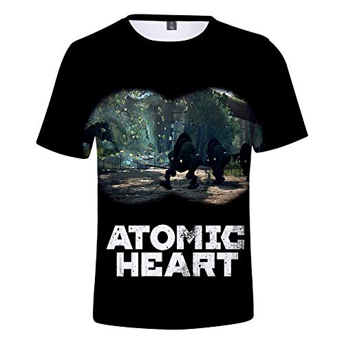 ONLYONE1 T-Shirts Neutraal 3D Digitaal Gedrukt Atoom Hart Letter Patroon Jas Deodorant Stretch Sport Top