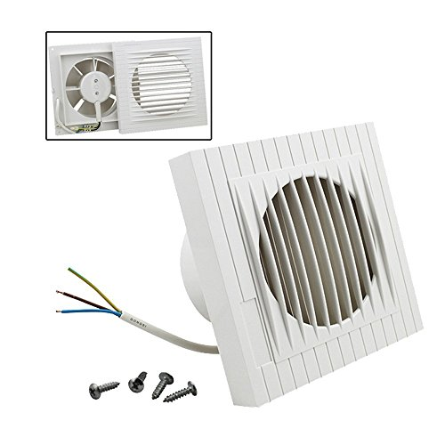 Hengda® Ventilator Wandventilator Lüfter Abluft Lüfter 130 m³/Std Bad Ø 100 mm