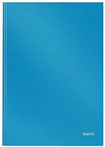 Leitz A4 Notizbuch, 80 Blatt, Hardcover, Linierte Seiten, Solid, Hellblau, 46650030