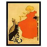 Steinlen Quillot Milk Cats Girl French Advert Art Print