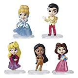Disney Princess Comics Dolls, Glitter Pack with Cinderella, Prince Charming, Belle, Aurora, and Pocahontas, Disney Toy with 5 Dolls