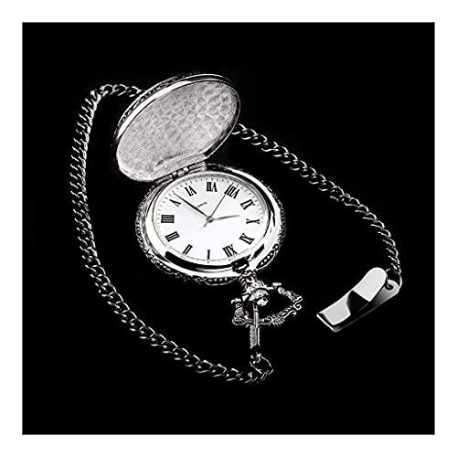 Reloj de bolsillo elegante clásico.Reloj Mágico de bolsillo, reloj de bolsillo de cuarzo de buena suerte retro clásico, mejor cumpleaños, vacaciones, regalo conmemorativo - reloj de antigüedad ,Punk