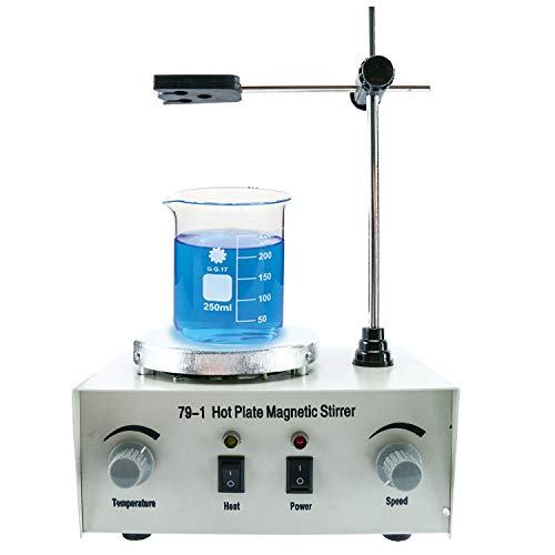 1000ml Adjustable Hotplate Mixer Heat Plate Magnetic Stirrer with stir bar 79-1 110V 2400 RPM