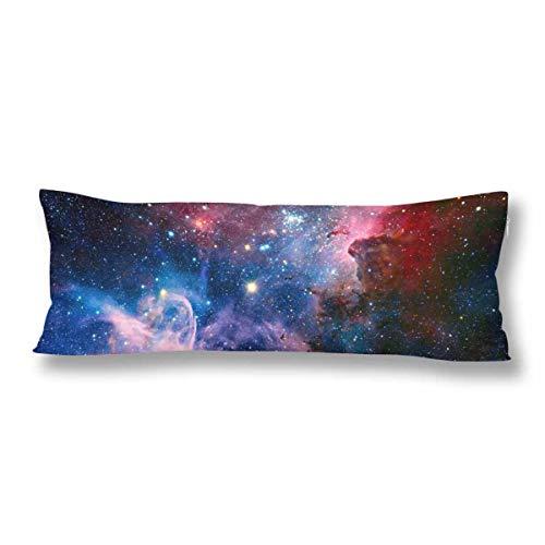 CiCiDi Seitenschläferkissen Kissen-Bezug 40x145 cm Nebel Galaxie Raum Zusammenfassungs Sterne Atmungsaktives Kissenhüllen mit Reißverschluss Baumwollen und Polyester
