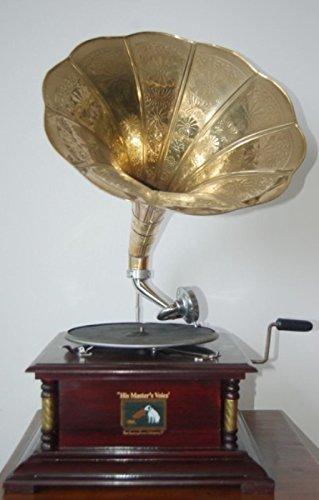 mobildoc GRAMMOFONO Quadrato A Tromba con Disco E PUNTINE.