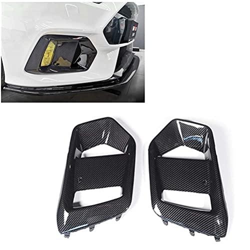 2 uds ABS apariencia de carbono luz antiniebla delantera lámpara decorativa embellecedor de cubierta para Ford Focus RS 2016-2018 estilo Exterior de coche