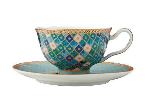Maxwell & Williams Teas & C's Kasbah Tazzina da tè e piattino in Confezione Regalo, Porcellana, Menta