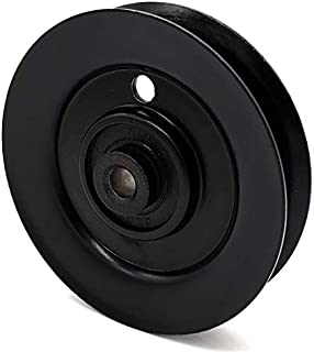 Phoenix Mfg. 4 Inch Dia 3/8 Inch Bore Steel V-Groove Idler Pulley Replacement for Briggs and Stratton Simplicity Ferris 1710545 Cub Cadet MTD Craftsman 1726660 756-0487