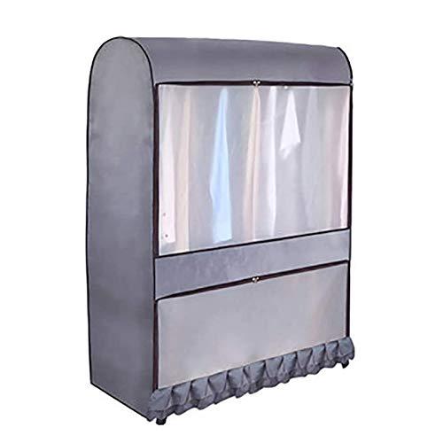Funda para perchero de ropa, de gran capacidad, impermeable, color gris, 105 x 146 x 50 cm, 1 unidad