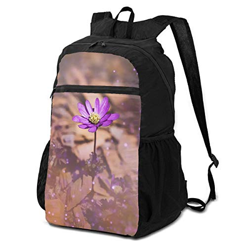 Balkan Anemone Outdoor Travel Backpack for Men and Women,Foldable/Lightweight/Waterproof/Large-Capacity