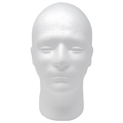 "Male Styrofoam Foam Mannequin wig Head 11"" (1 count)"