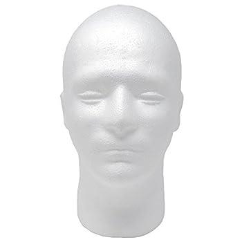 Male Styrofoam Foam Mannequin wig Head 11   1 count