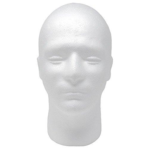 Male Styrofoam Foam Mannequin wig Head 11' (1 count)
