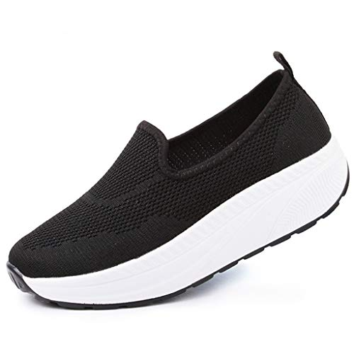 Dames Mode Sneakers Mesh Ademend Platform Wedge Trainers Instappers Walking Loafers Lente Zomer Jogging Fitness Schoenen