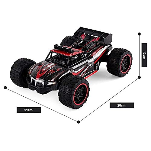 Coches de carreras todoterreno RC a prueba de explosiones, tracción en las cuatro ruedas, simulación de coche de juguete para niños de alta velocidad, vehículo RC de 2,4 GHz para interior, exterior, p