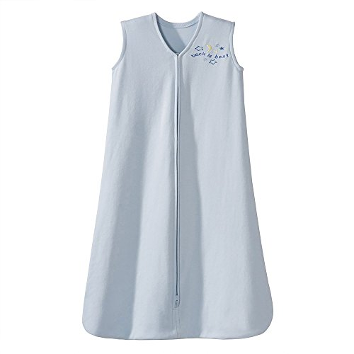 HALO Sleepsack 100% Cotton Wearable Blanket, Blue Animal,...