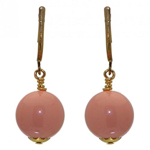 LINDSEY 12mm Orecchini a clip corallo rosa placcato oro