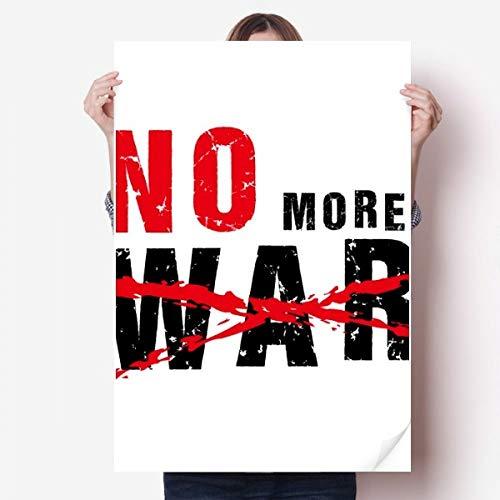 DIYthinker No More War Love Peace du Monde Vinyle Autocollant de Mur Poster Mural Wallpaper Chambre Decal 80X55Cm 80cm x 55cm Multicolor