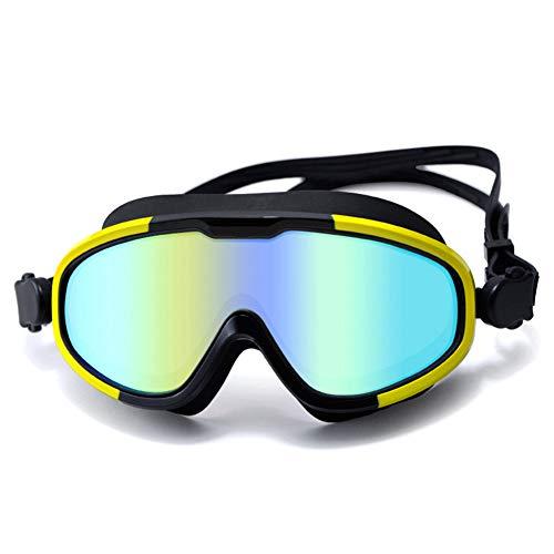 OVBBESS Gafas de baño antivaho Gafas de natación Gafas de buceo Gafas de natación ajustables Gafas de natación galvanoplastia para adultos