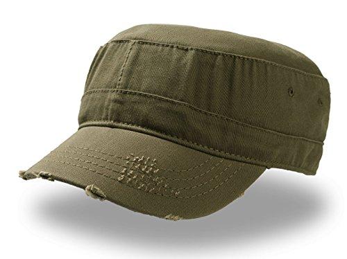 Urban Mütze im Militärstil,100% aus Baumwolle, Grün