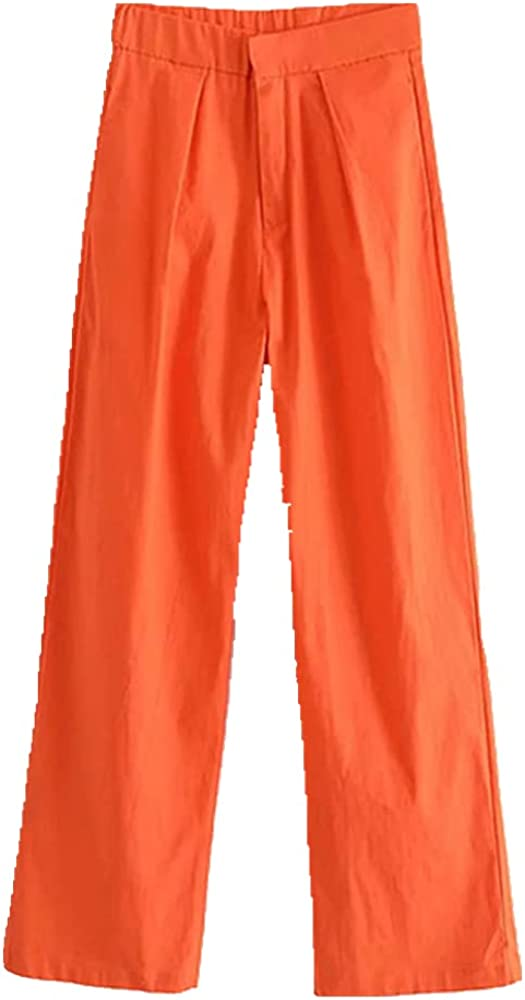 Za Green Waist Pants Women Loose Purple Summer Pants Woman Straight Leg