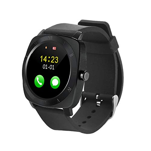 X5 1.33 pulgadas Full IPS capacitiva Pantalla táctil redonda Bluetooth 3.0 Correa de silicona Reloj inteligente Teléfono con ranura para tarjeta micro SIM para todos los teléfonos inteligentes Android