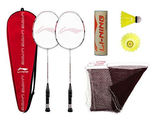 Li-Ning Premium Carbon Fiber 2 Racket Badminton Set