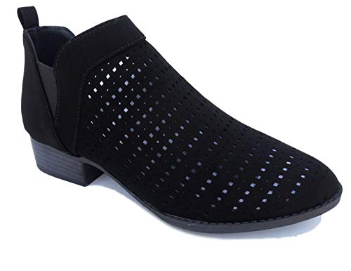 Best Mia Comfortable Ladies Spring Boots Size 6 Fun New Ladies Casual Small Heel Dress Booty Shorts Shoes for Girls Women (Black Size 6)