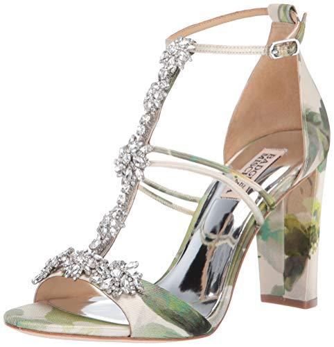 Badgley Mischka Women's Laney Heeled Sandal, Floral Multi, 8.5 M US