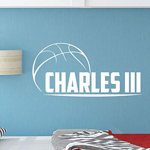 mlpnko Nombre Personalizado Baloncesto Vinilo Etiqueta de la Pared decoración del hogar Mural removible decoración de Bricolaje protección del Medio Ambiente PVC57x28cm