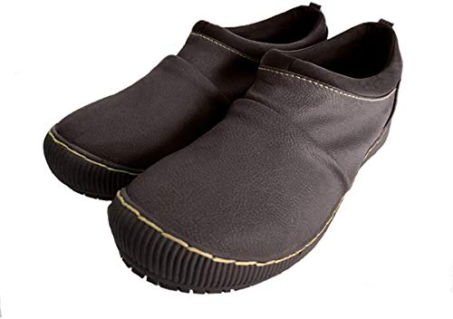 [ウィルソンリー] 2814 レディース カジュアルシューズ 防水加工 コンフォート スリッポン 伸縮性 リゾート靴 普段履き 仕事靴 (23.0cm, ダークブラウン)