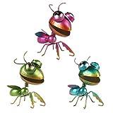 YiYa 3PCS Metal Mantis Decoración de Pared Mantis Decoración de Pared Arte para jardín ...